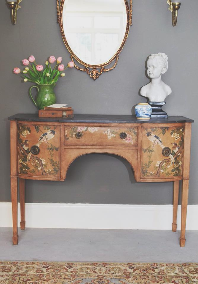 Vintage Fabric Decoupage Sideboard by Jonathon Marc Mendes