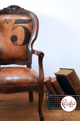 Fabric Painted Leather Look Chair – learn how to paint it like Jonathon Marc Mendes