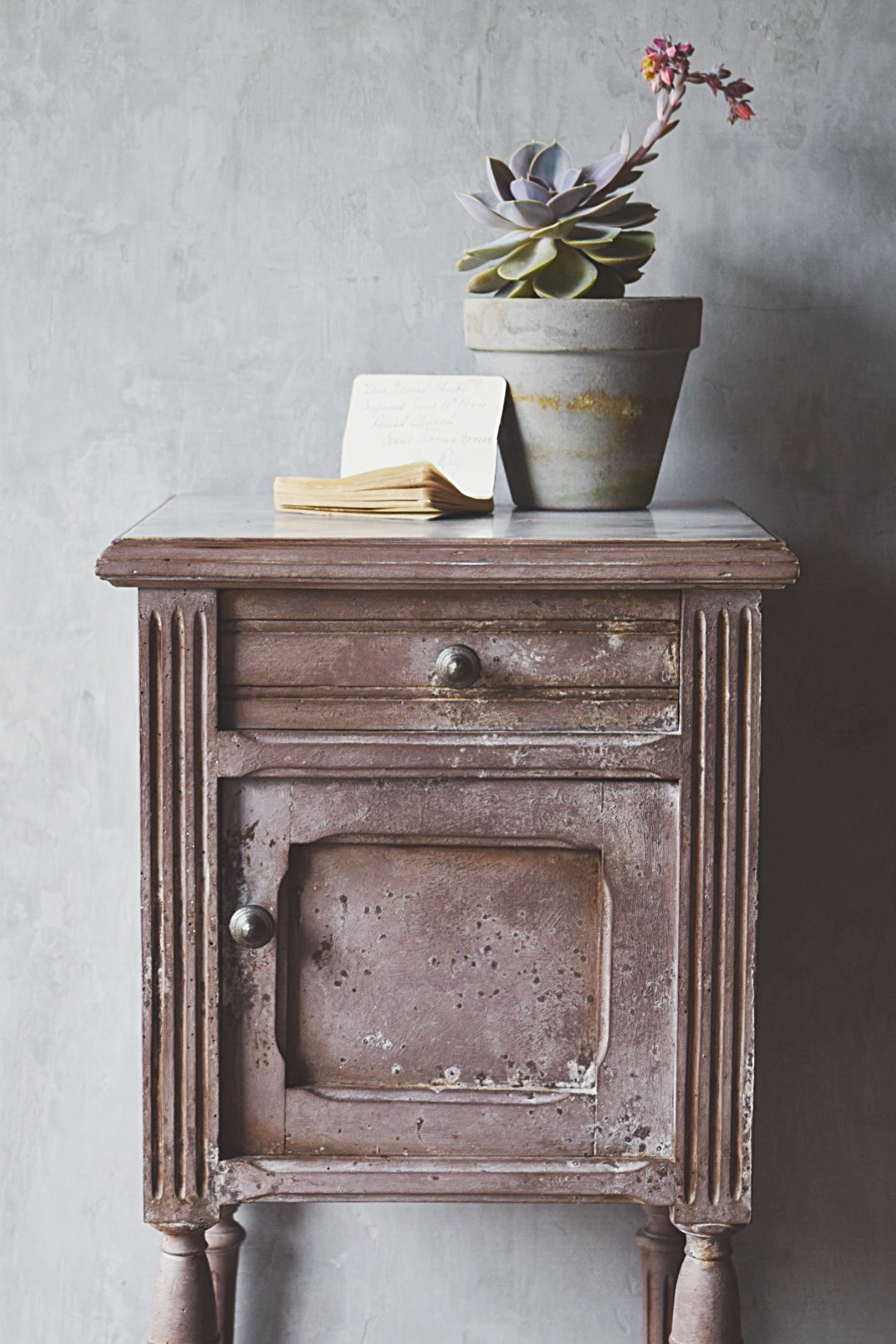 Faded grandeur furniture with a twist of lime paint