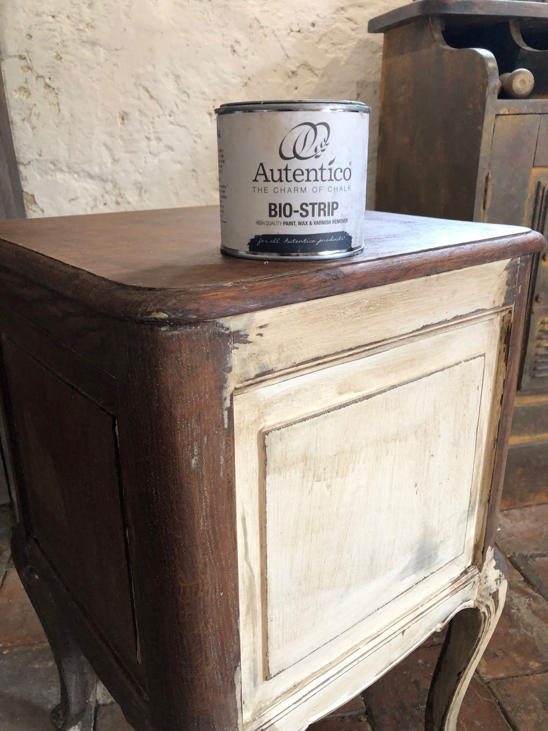 Back to raw wood with ease using Bio-Strip paint stripper