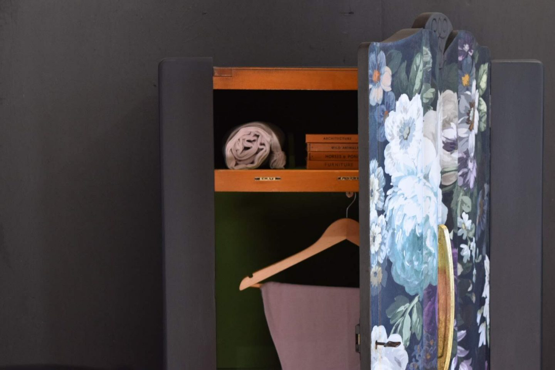 Fabric Decoupage Wardrobe by Jonathon Marc Mendes